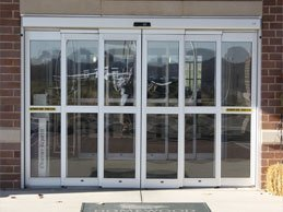 Telescopic Sliding Door on a storefront