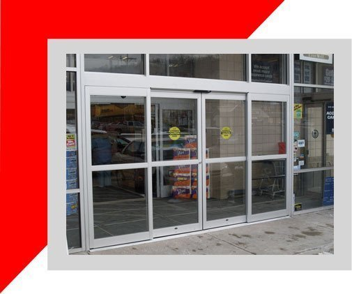 Automatic Sliding Door Installation in a retail store