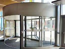 2 wing automatic revolving door for bank